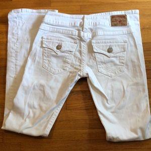 True Religion white jeans